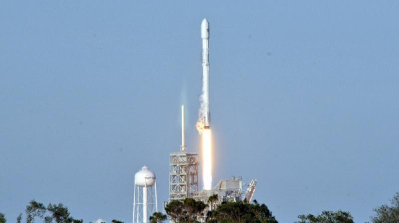 Space X's recycled Falcon 9 rocket lifts off from Kennedy Space Center  (Photo: AFP)