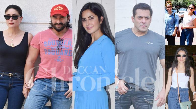 Bollywood celebrities like Salman Khan, Katrina Kaif, Kareena Kapoor Khan, Saif Ali Khan, Radhika Madan, Sanya Malhotra, Shraddha Kapoor and others were clicked in the city of dreams, Mumbai. (Photos: Viral Bhayani)
