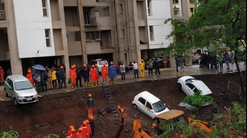 An NDRF team has been rushed to the spot (Photo: ANI   Twitter)