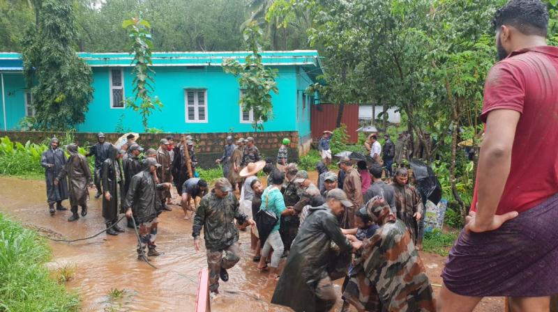 The Southern Naval Command suspended all training activities to help with relief operations as requested by the Kerala State Disaster Management Authority (KSDMA). (Photo: Twitter | @adgpi)