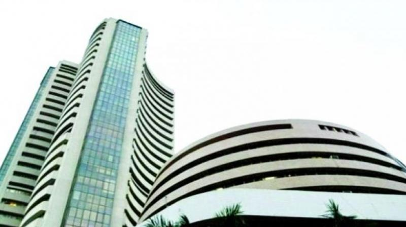 Street cheers exit poll results; Sensex climbs 300 points, Nifty above 10350