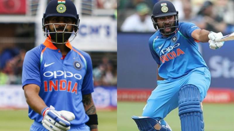In their seven run-outs while batting together in ODIs, Virat Kohli has been out five times while Rohit Sharma is out twice. (Photo: AP / BCCI)