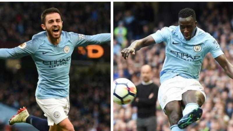 The Football Association has handed a one-game ban and a 50,000 euros fine to Manchester City midfielder Bernardo Silva for racist his tweet at team-mate Benjamin Mendy.  (Photo:AFP)