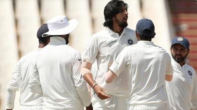 Ishant Sharma took two wickets in the session.(Photo: BCCI)
