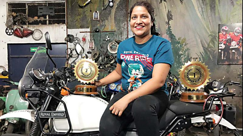 In 2016, a group of bikers scaled the Himalayas, a mighty feat. Among them was a biker from Bengaluru, Shruthi Naidu, the female rider who challenged patriarchy with the same zest that led her to take on the world's highest mountain range.