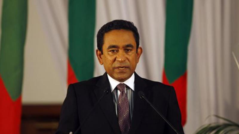 The Chinese official media which was silent since the crisis broke out in Maldives last week came out Wednesday in support of Yameen's regime. (Photo: AP)