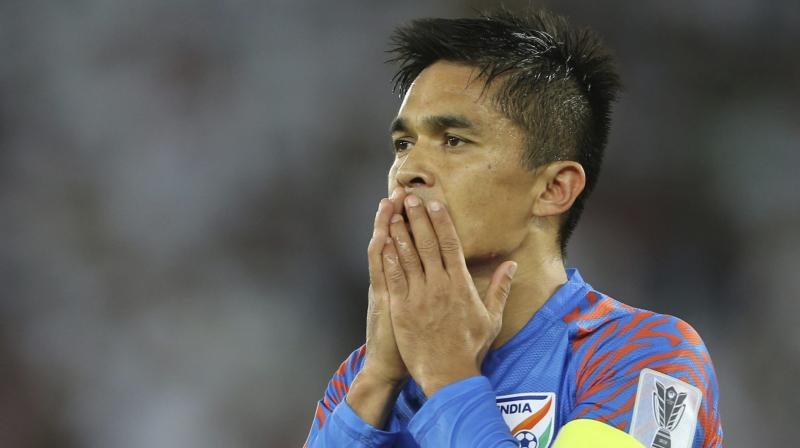 Chhetri is also of the opinion that the only aim of all three -- federation, players and a new coach will help to keep India progressing. (Photo: AP)