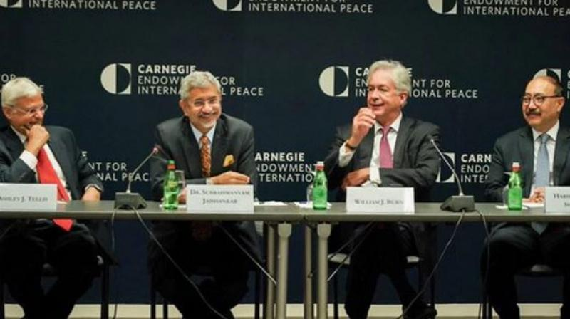 Jaishankar hailed warm relations overall with the United States but underlined India's differences with Trump's hawkish stance on Iran. (Photo: Twitter)