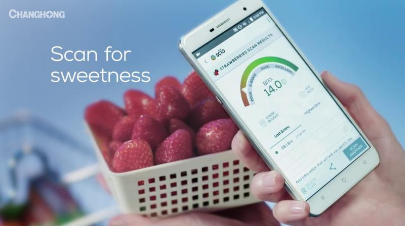 The use of spectrometers in phones was brought to light by the Changhong H2, a prototype phone at CES 2017 that not only could detect the sugar composition of fruits, but also analyse body fat level, the moisture in your skin and more.