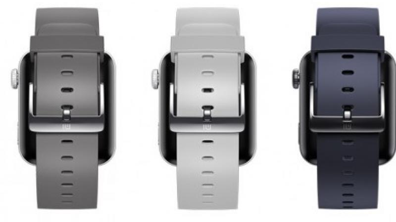 Apart from the standard black and white straps, there is also a grey strap and what looks like a navy blue variant.
