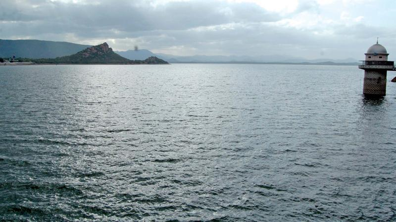 Stanley reservoir at Mettur looks a veritable sea as gushing Cauvery waters fills the vast expanse, taking its level towards the dam's full height of 120-ft. (Photo: DC)
