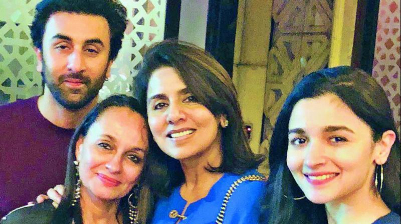 Image result for Alia Bhatt, Ranbir Kapoor parents