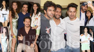 Bollywood celebrities like Varun Dhawan, Sara Ali Khan, Kartik Aaryan, Arjun Kapoor, Malaika Arora, Karan Johar, Sohail Khan, Minisha Lamba, Diana Penty and others attended the screening of Tiger Shroff, Tara Sutaria and Ananya Panday starrer 'Student Of The Year 2'. (Photos: Viral Bhayani)