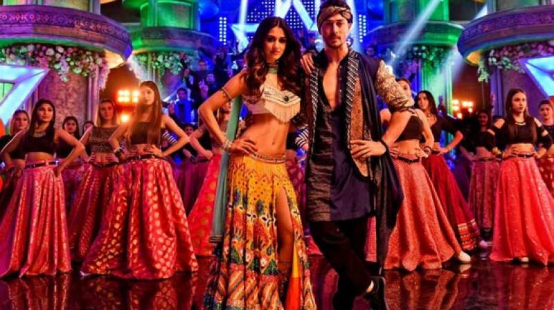 Tiger Shroff and Disha Patani in a still from 'Baaghi 2'.