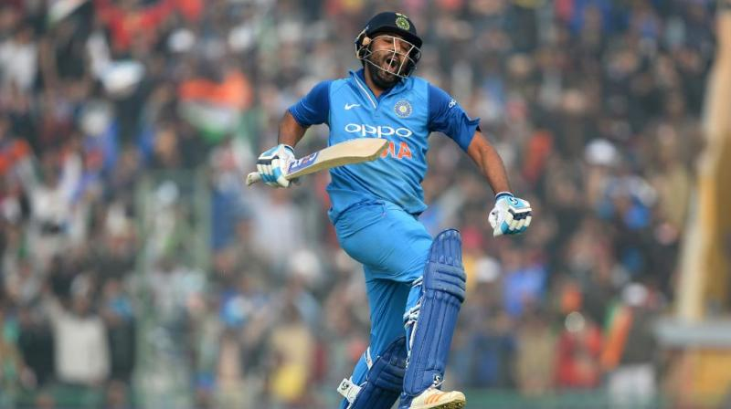 Ro'Hitman' Sharma smashed his 3rd double ton in ODIs on this day; watch video