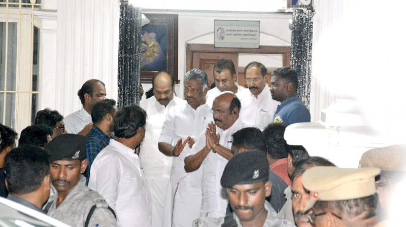 Deputy CM O. Pannerselvam visited DMK MK. Stalin