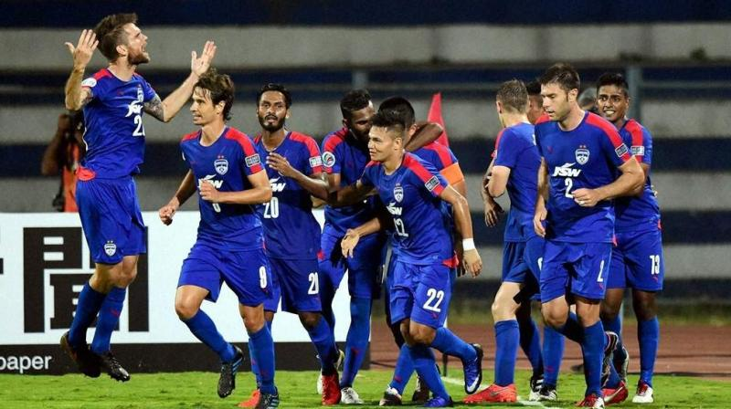 Despite the 1-0 loss to Iraq's Air Force FC, Bengaluru have left their footprints on the sands of time by becoming the first Indian club to reach the AFC Cup final. (Photo: PTI)