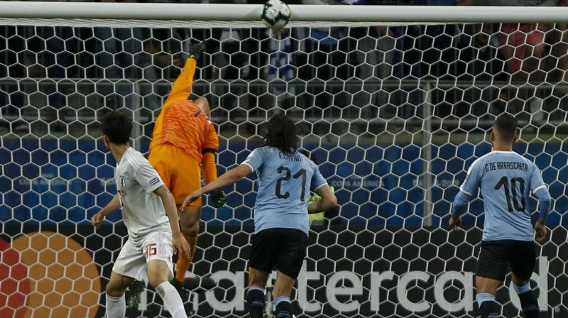 Miyoshi twice fired Japan into the lead only for Uruguay to level through a controversial penalty from Luis Suarez and a second-half header from Jose Gimenez. (Photo: AFP)