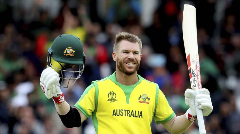 Warner's facial gesture shows that Ricky must have said something which ridiculed Warner. (Photo:AP/PTI)