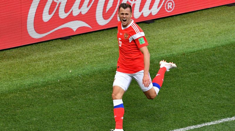 Denis Cheryshev's scored brace as Russia hammered Saudi Arabia confortably. (Photo: AFP)