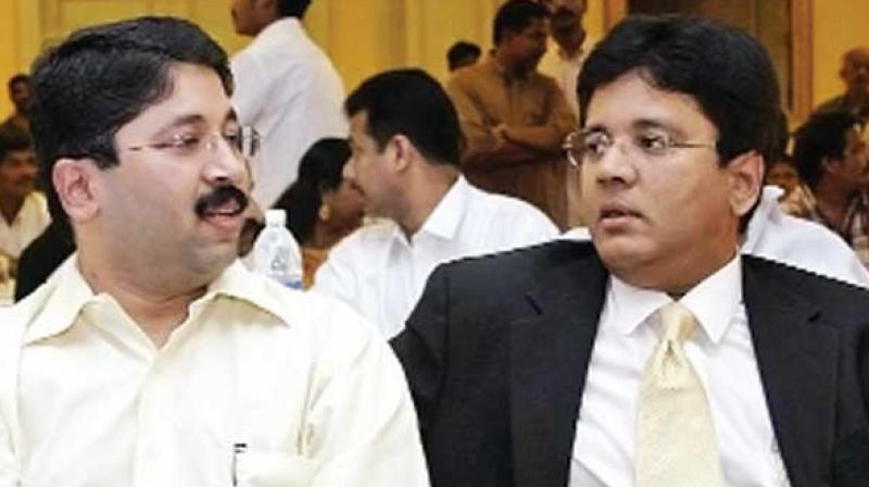 Dayanidhi Maran and his elder brother Kalanidhi Maran of Sun TV network appeared before special court for CBI cases on Thursday in connection with over a decade old illegal telephone exchange scam case.