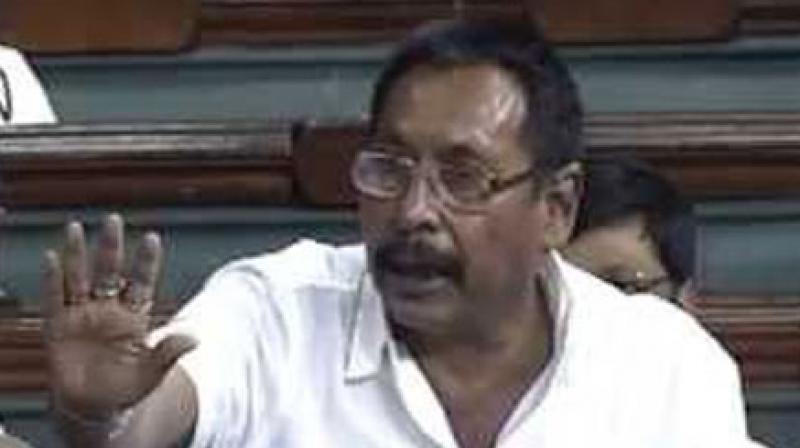 Minister of State for Railways Rajen Gohain. (Photo: Screengrab)