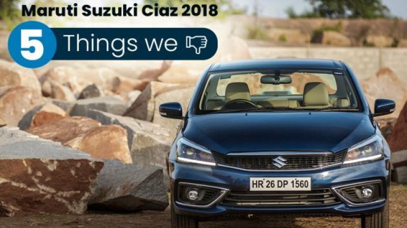 Despite being one of the most well-rounded packages in the segment, the competitively priced Maruti Suzuki Ciaz facelift still leaves us wanting in some departments.