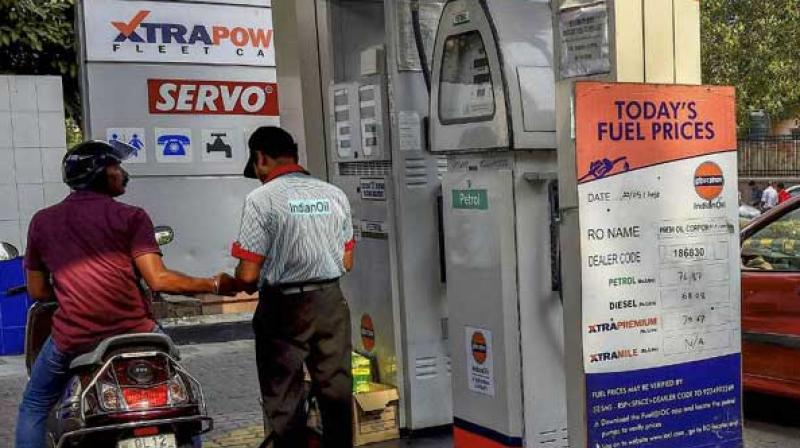On Monday, petrol retailed Rs 78.56 per litre while diesel is priced at Rs 73.16, in Delhi.