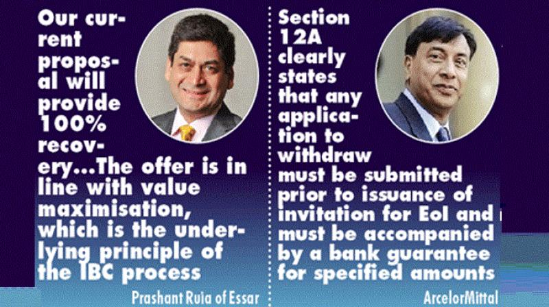 Essar Steel shareholders have submitted a proposal to the committee of creditors (CoC) for full settlement of the entire admitted claims.