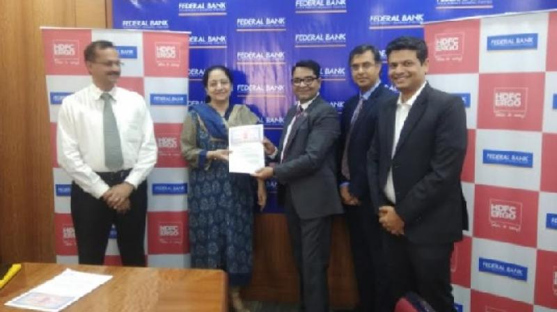HDFC ERGO Announces Tie-up with Federal Bank