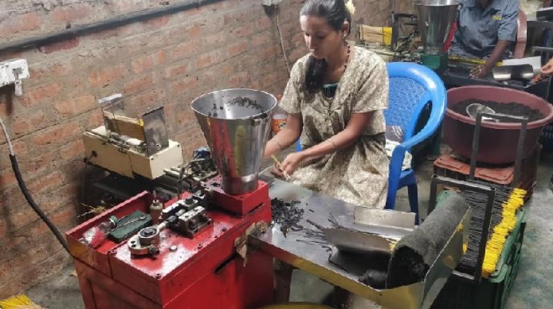 Agarbathi Making Using Machine