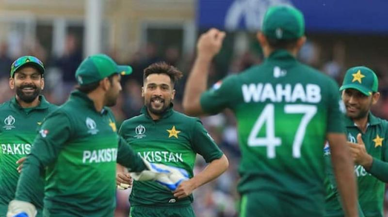 It was a remarkable turnaround for Pakistan, whose opening match of this World Cup had seen then slump to 105 all out in a seven-wicket defeat by the West Indies at the same ground. (Photo:AFP)