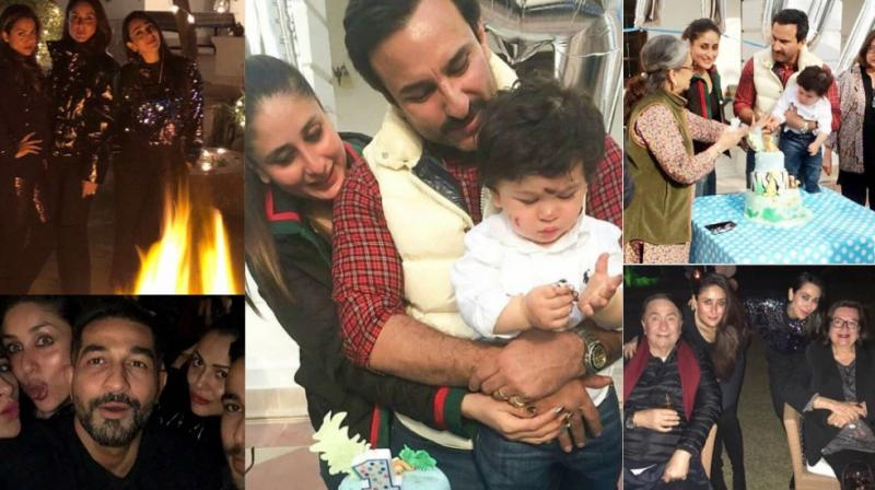 The grand first birthday celebrations of Kareena Kapoor Khan and Saif Ali Khan's son Taimur at Pataudi Palace continued well into the night on Wednesday. (Photo: Instagram)