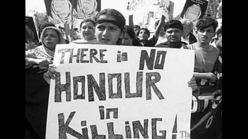 More than 500 people -- almost all women -- die in Pakistan each year in such killings (File Photo)