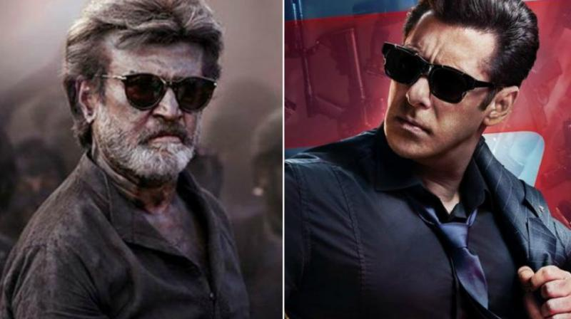 Rajinikanth in 'Kaala' teaser, Salman Khan on 'Race 3' poster.
