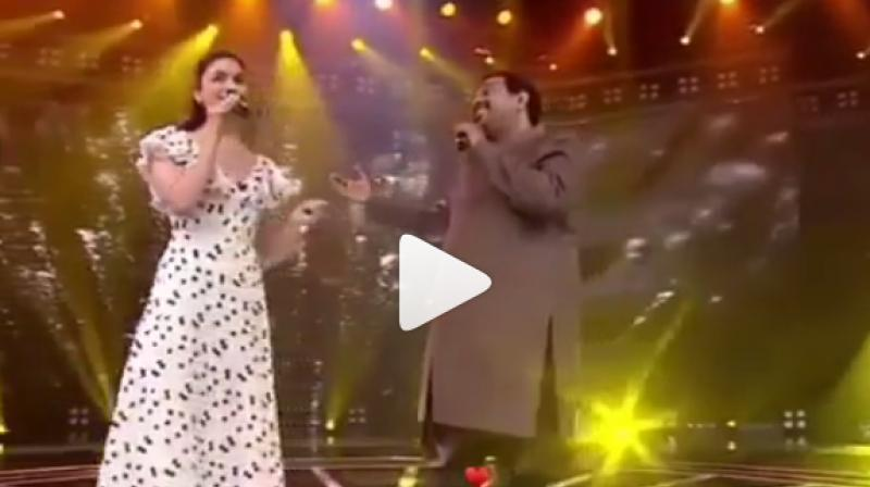 Alia Bhatt and Shankar Mahadevan sing the song. (Photo: Snapshot from Instagram)