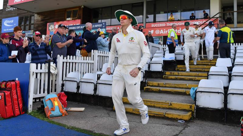Steve Smith was back playing in his first match since being concussed by England fast bowler Jofra Archer as Australia faced Derbyshire on Thursday. (Photo:AFP)