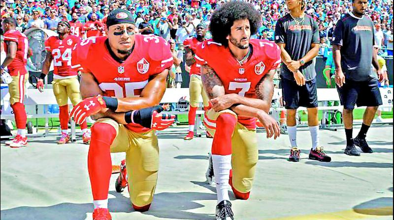 """Nike made the former San Francisco 49ers quarterback Colin Kaepernick one of the faces of its 30th anniversary """"Just Do It"""" ad campaign."""