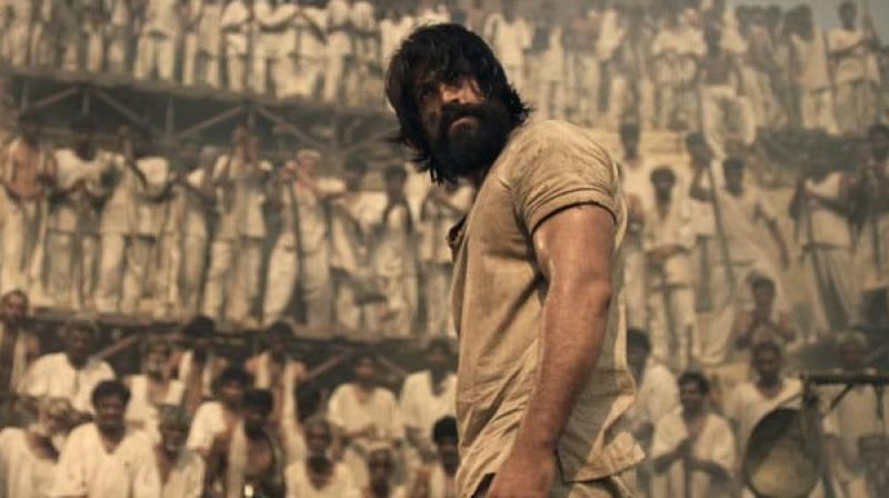 Yash in the still from KGF.