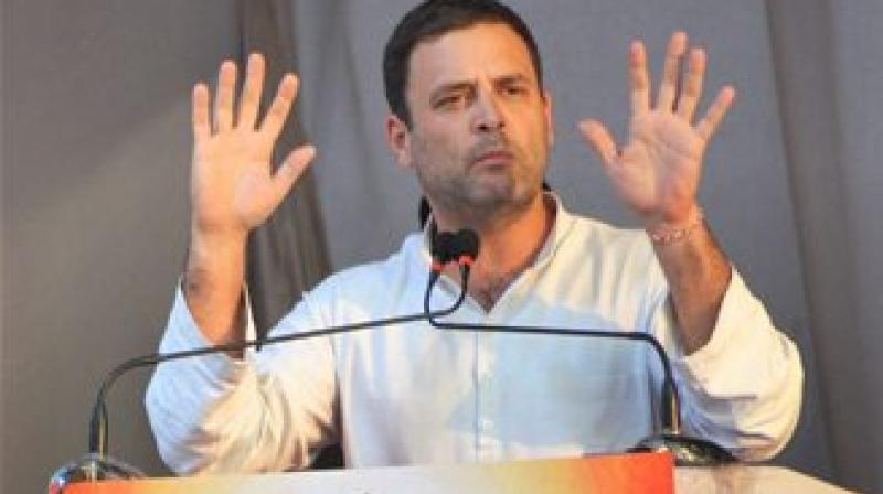 AICC Vice President Rahul Gandhi addressing a public meeting in Mapusa, Goa. (Photo: File/AP)