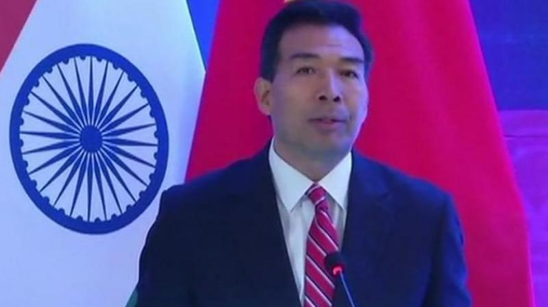 "How else can one explain the volte-face by Chinese ambassador to India Luo Zhaohui, who just three weeks after suggesting that there could be a positive outcome to India's demand for the designation of Pakistan-based Jaish-e-Mohammed chief Masood Azhar as a ""global terrorist"" by the UN Security Council's 1267 Committee. (Photo: ANI)"