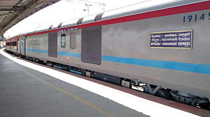 The Varanasi-Mysuru train fitted with LHB rake which replaces the conventional rake.