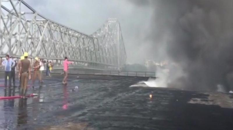 At least 20 fire tenders have reached the spot in an effort to douse the flames. (Photo: ANI)