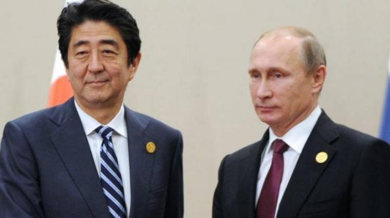 Japan Prime Minister Shinzo Abe and Russia President Vladmir Putin