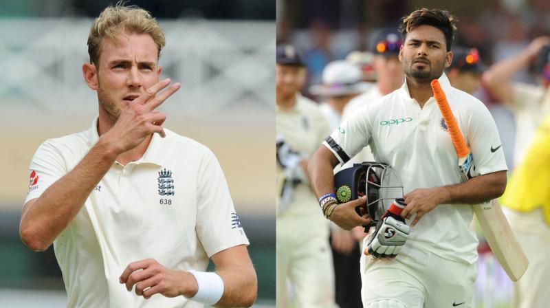Following the dismissal of Rishabh Pant in the first innings of the Nottingham Test, Stuart Broad walked towards the batsman and spoke in an aggressive manner, which had the potential to provoke an aggressive reaction from the dismissed batsman. (Photo: AP)