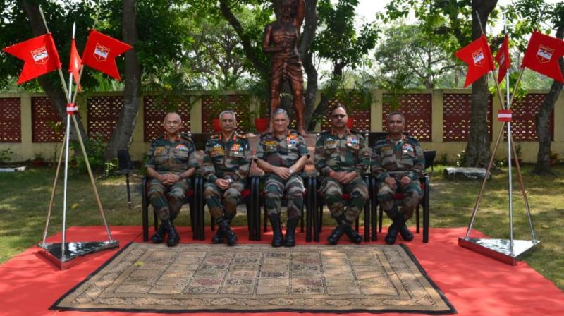 The COAS was accompanied by Lt Gen MM Naravane, General Officer Commanding-in-Chief Eastern Command. (Photo: Rajib Chowdhuri/ Deccan Chronicle)
