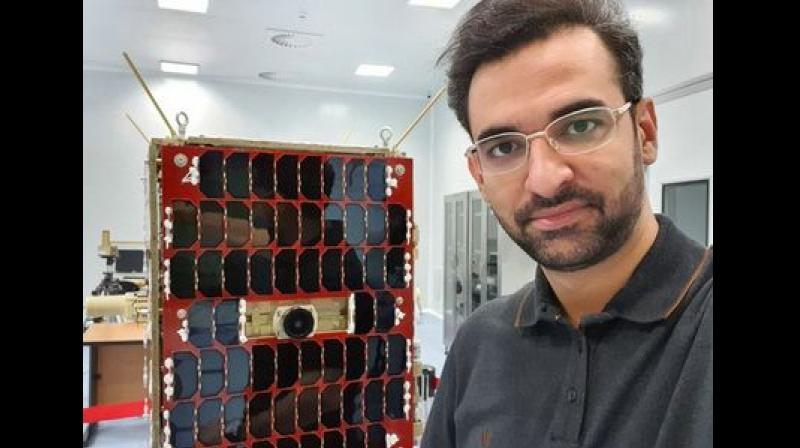 There were speculations that the satellite was Nahid-1. Jahromi's tweet claimed that the satellite was intact. (Photo: Twitter   @azarijahromi)