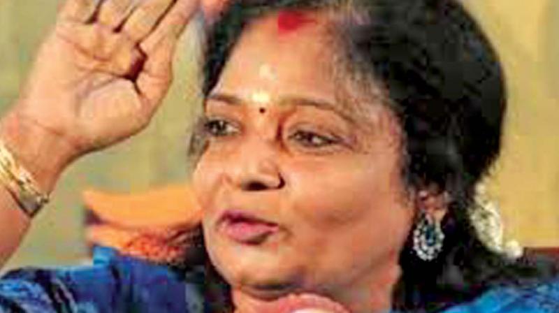 Tamil Nadu BJP chief Tamilisai Soundararajan