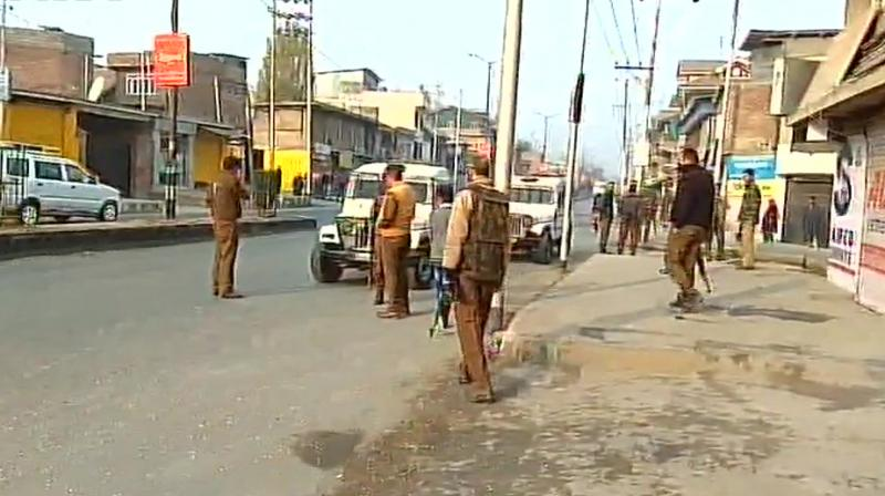 Three CRPF jawans received bullet injuries while two others were injured after getting hit by broken glass panes of the vehicle. (Photo: ANI)
