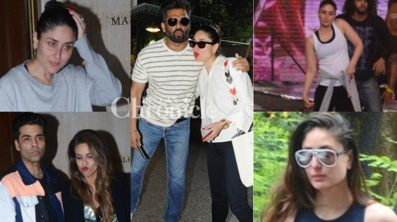 Kareena Kapoor Khan had a busy day in Mumbai after returning from London on Monday. (Photos: Viral Bhayani)
